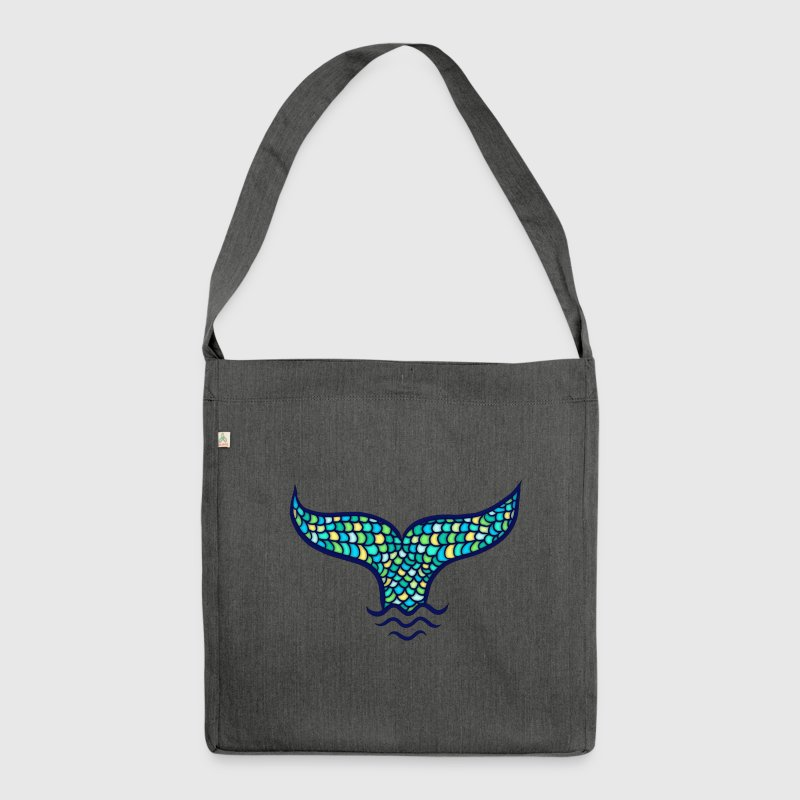 Fish Fin, Mermaid, Whale, Sea, Ocean, Waves Bags & Backpacks - Shoulder Bag made from recycled material