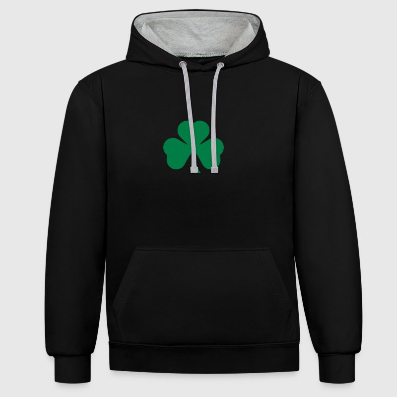 Trèfle irlandais Saint Patrick Sweat-shirts - Sweat-shirt contraste