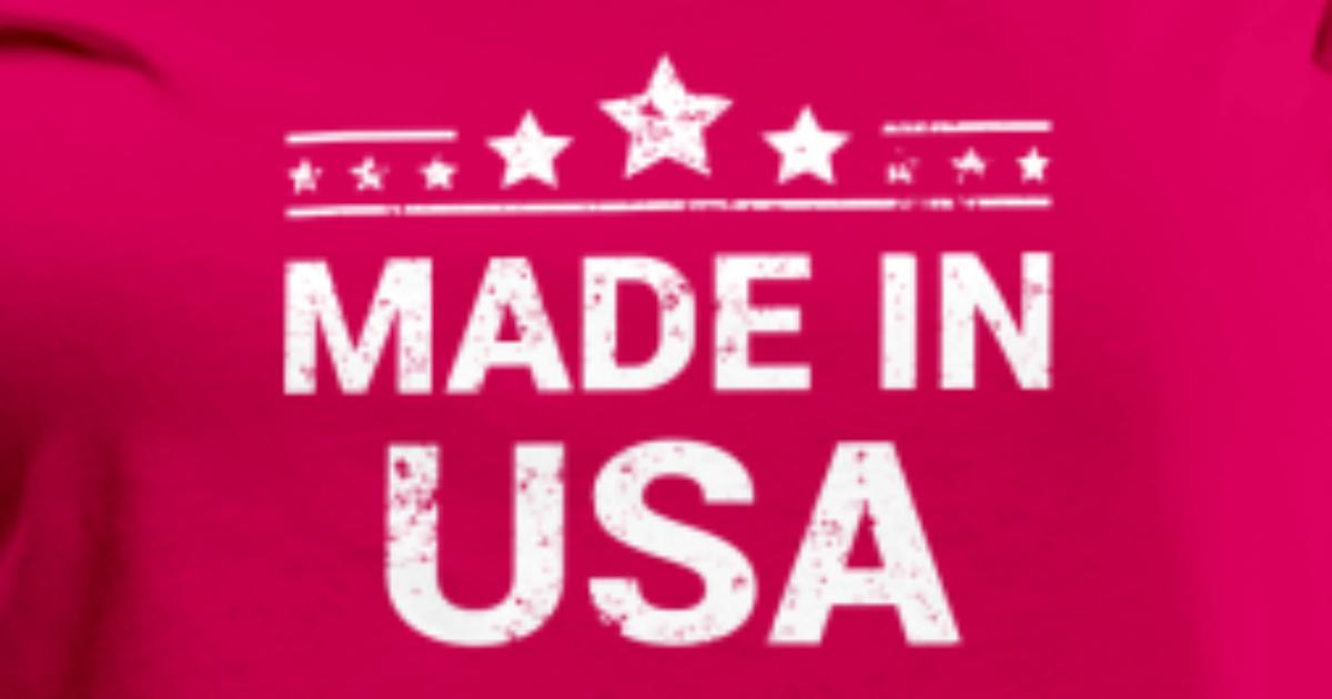 Made In Usa White Print T Shirt Spreadshirt