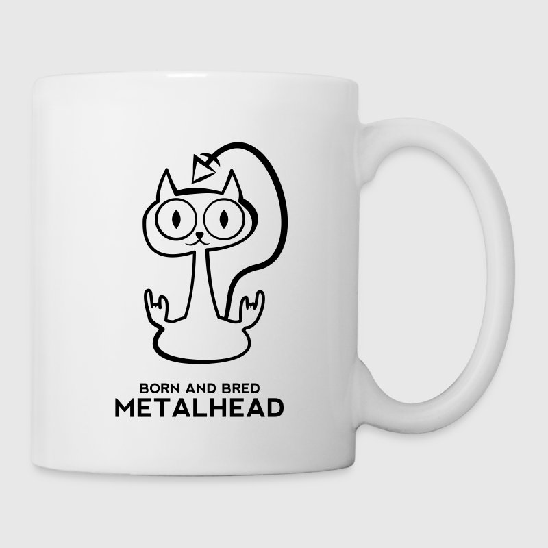 Heay metal cat  Mugs & Drinkware - Mug