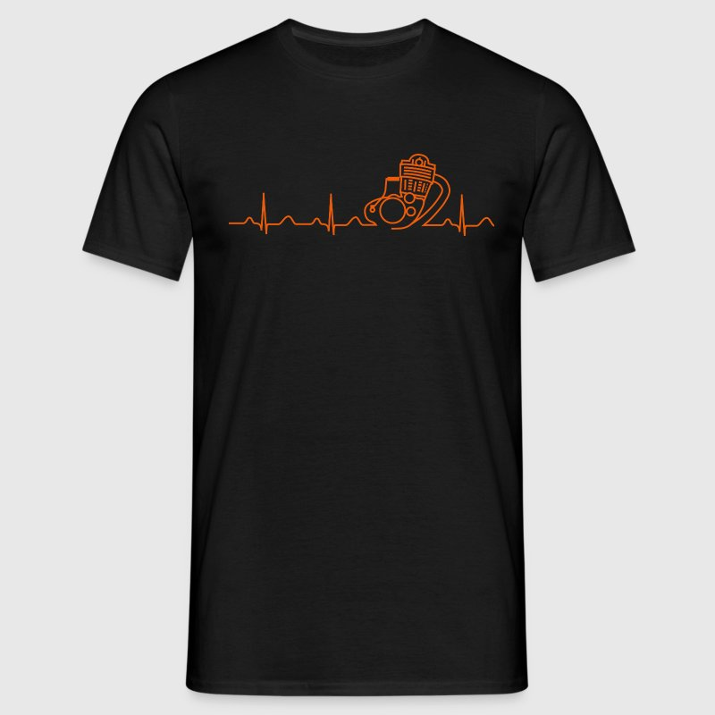 T-Shirt, SR500 XT500 Heartbeat Design - Men's T-Shirt