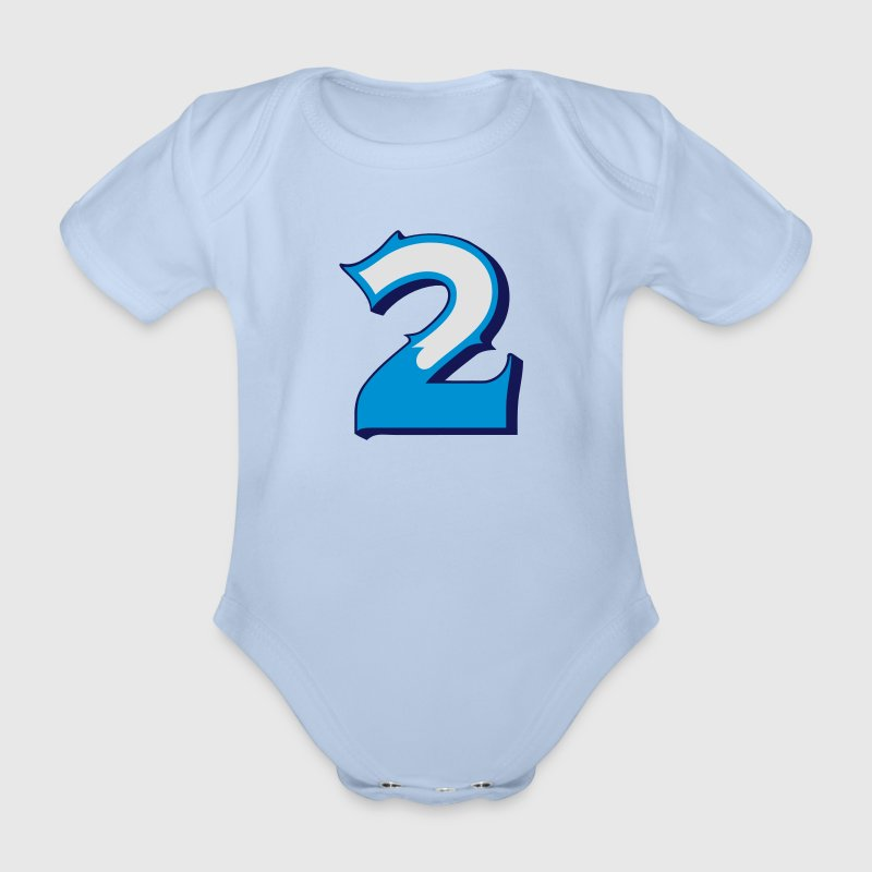 Fun Numbers 2 - 3C colorchange Baby Bodys - Baby Bio-Kurzarm-Body