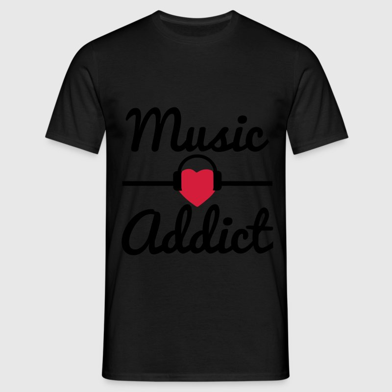 Music addict , music, i love music  - Men's T-Shirt