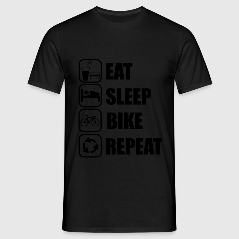 Eat,sleep,bike,repeat , ciclismo Shirt - Maglietta da uomo