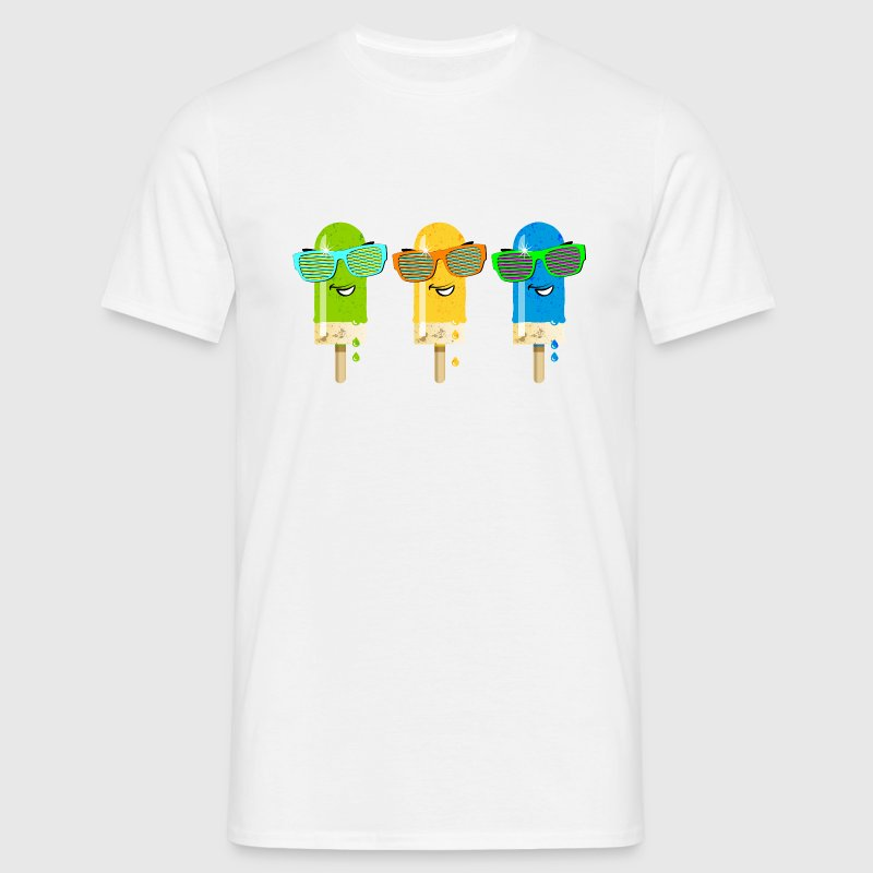Eis am Stiel ice lolly icecream Sommer Gelato sü - Männer T-Shirt
