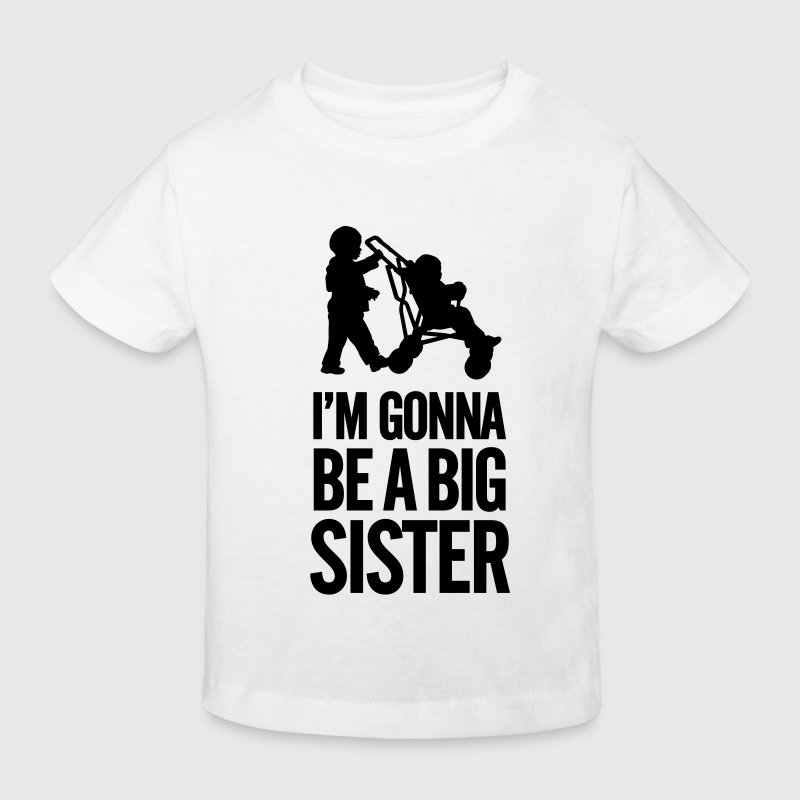 I'm gonna be a big sister baby car Shirts - Kids' Organic T-shirt
