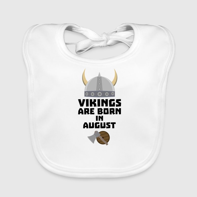 Vikings are born in August S7ged Baby Bibs - Baby Organic Bib