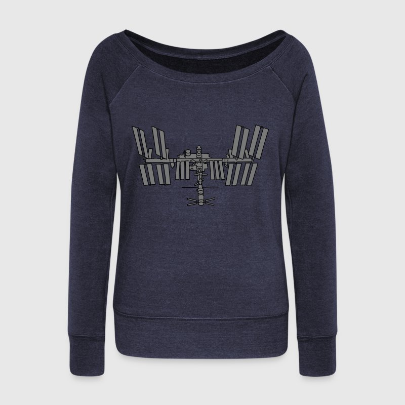 Station spatiale ISS 2 Sweat-shirts - Pull Femme col bateau de Bella