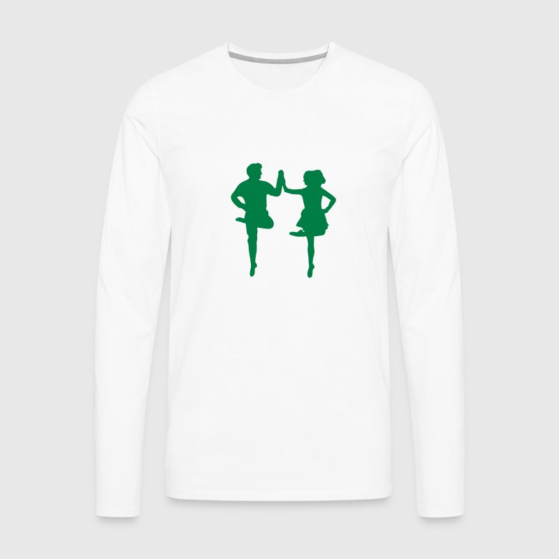 Irish Dance Long sleeve shirts - Men's Premium Longsleeve Shirt