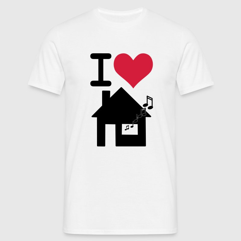 White I love housemusic T-Shirts - Men's T-Shirt