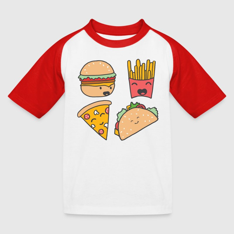 Fast food friends - Kids' Baseball T-Shirt