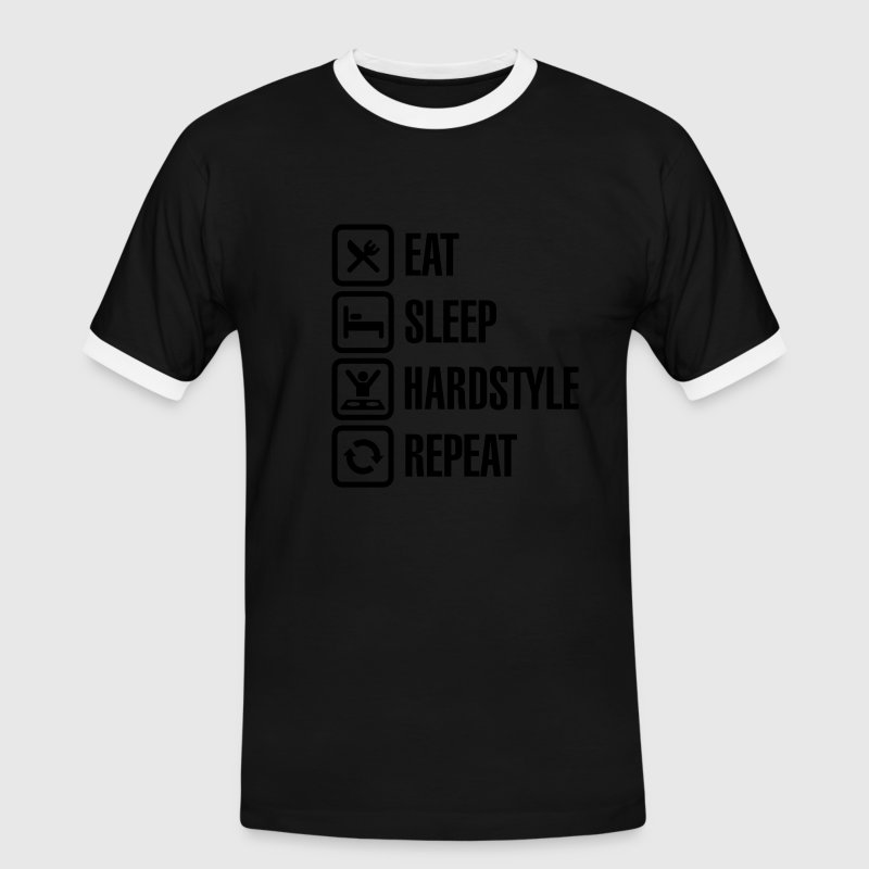 Eat Sleep hardstyle Repeat T-Shirts - Männer Kontrast-T-Shirt