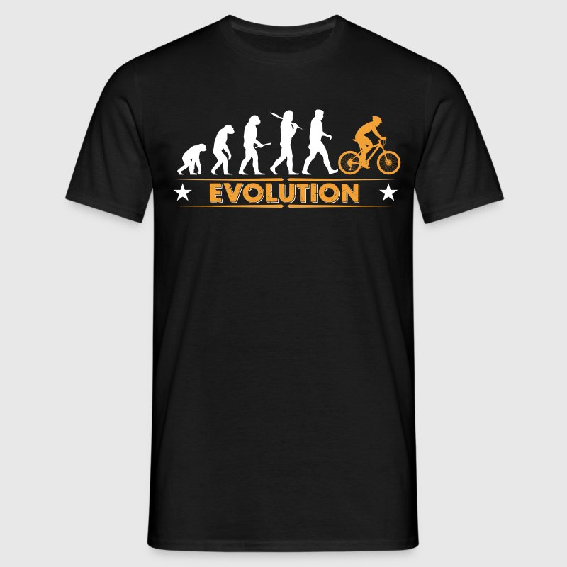 Mountain bike evolution - orange/white T-Shirts - Men's T-Shirt