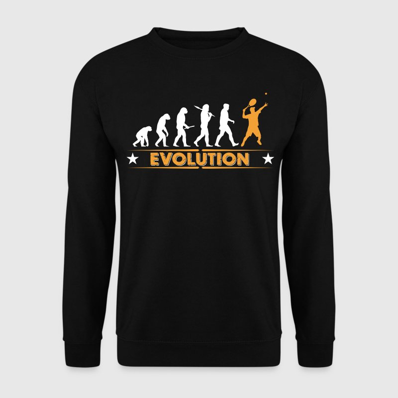 Tennis Evolution - orange/weiss Pullover & Hoodies - Männer Pullover