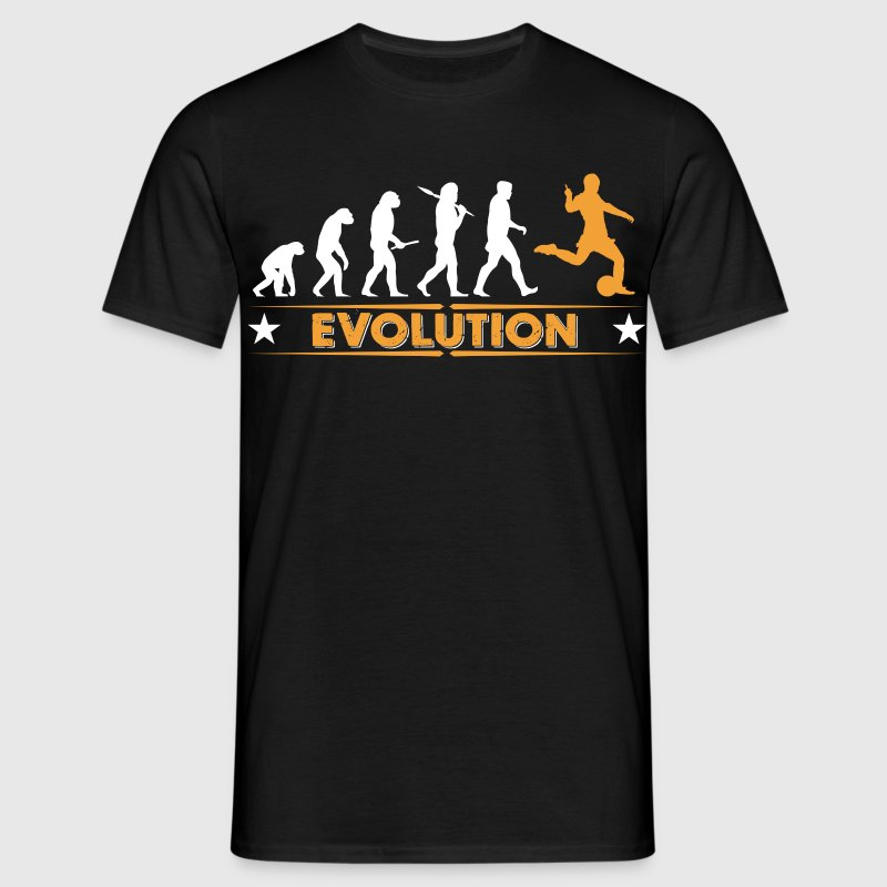 Football evolution - orange/white T-Shirts - Men's T-Shirt