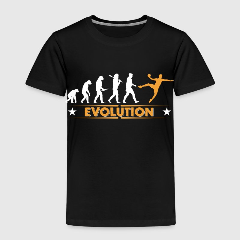 Handball Evolution - orange/weiss Skjorter - Premium T-skjorte for barn