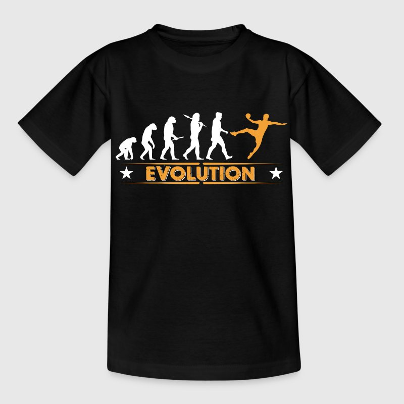Handball Evolution - orange/weiss Tee shirts - T-shirt Ado
