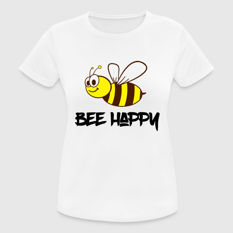 bee happy T-Shirts - Frauen T-Shirt atmungsaktiv
