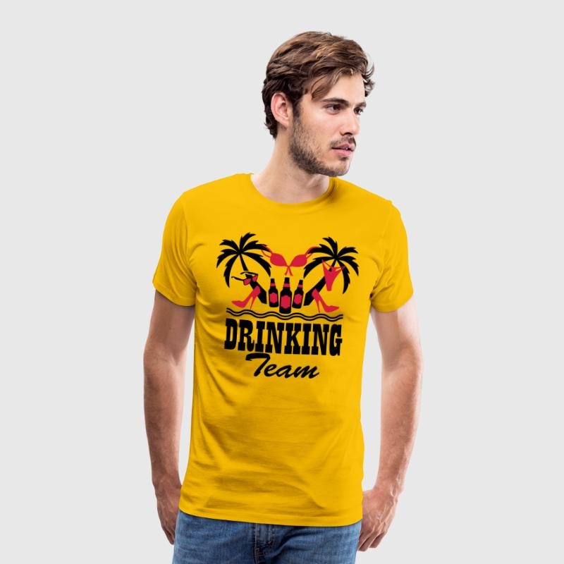 19 Drinking Team Insel Spaß Sex Boys Girls on Tou - Männer Premium T-Shirt