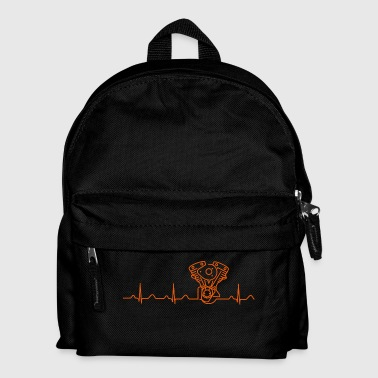 Late Shovel Heartbeat orange Caps & Hats - Kids' Backpack