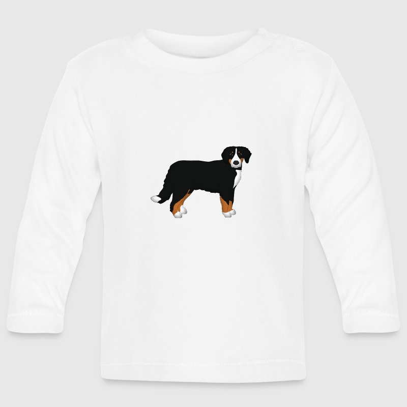 Bernese mountain dog head front baby long sleeve t shirt for Mountain long sleeve t shirts