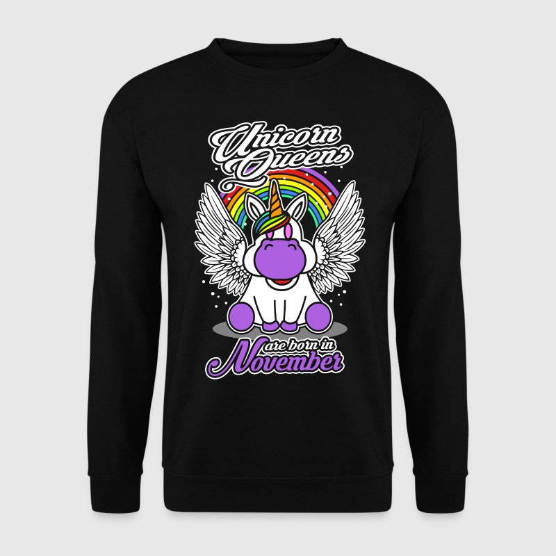 November - Birthday - Unicorn - Queen - EN Hoodies & Sweatshirts - Men's Sweatshirt