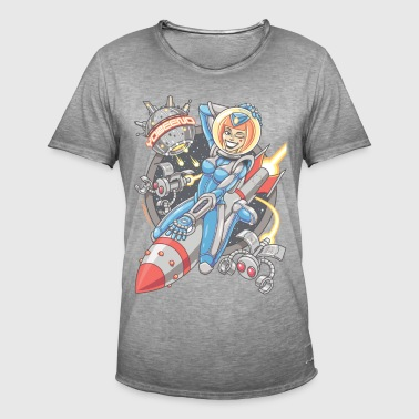 Yobeeno Cosmic Girl - Men's Vintage T-Shirt