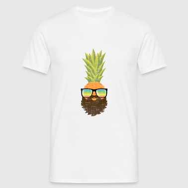 Pineapple Hipster With Beard And Sunglasses Ropa deportiva - Camiseta hombre