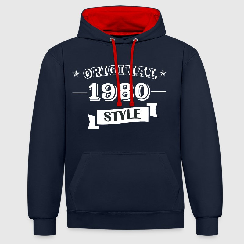 Original pull style 1980 & hoodies - Sweat-shirt contraste