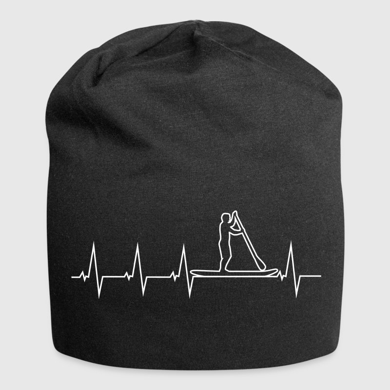 SUP - Stand up paddle - Heartbeat Caps & Hats - Jersey Beanie