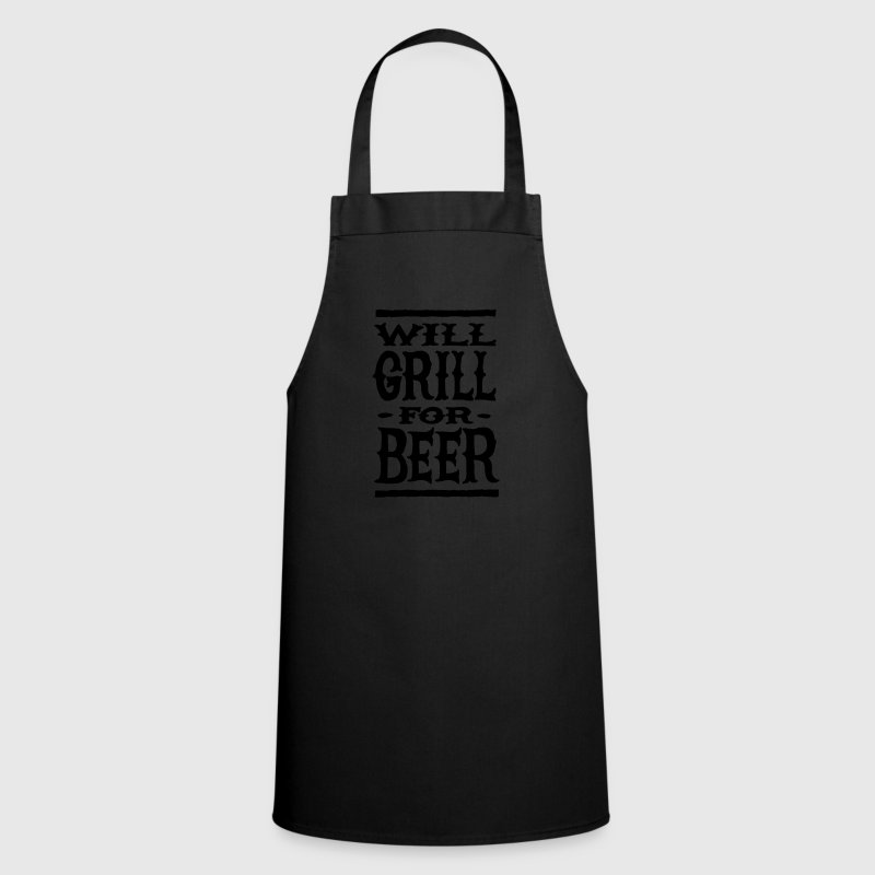 Will grill for beer  Aprons - Cooking Apron