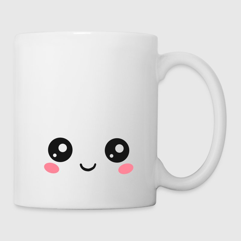 Happy Kawaii Eyes, Manga Face, Anime, Comics Bouteilles et Tasses - Tasse