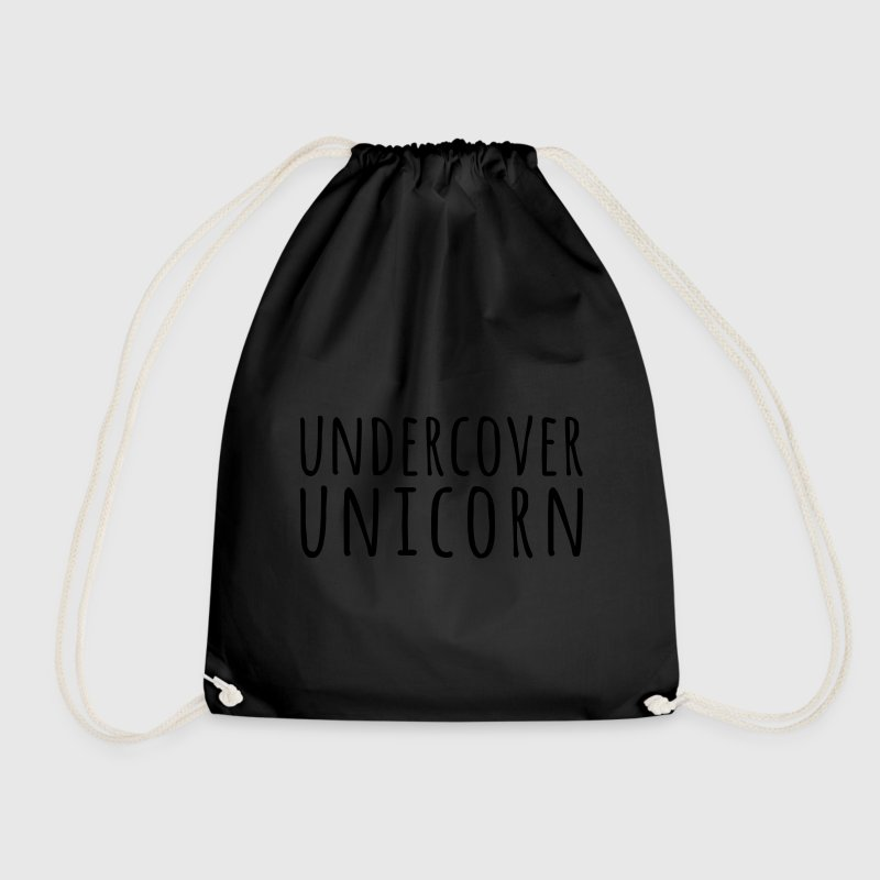 Undercover Unicorn Funny Quote Bags & Backpacks - Drawstring Bag