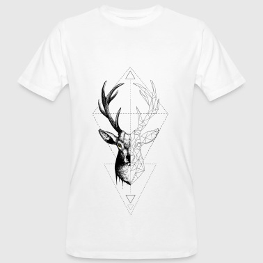 White Deer Geometrically T-Shirts - Men's Organic T-shirt