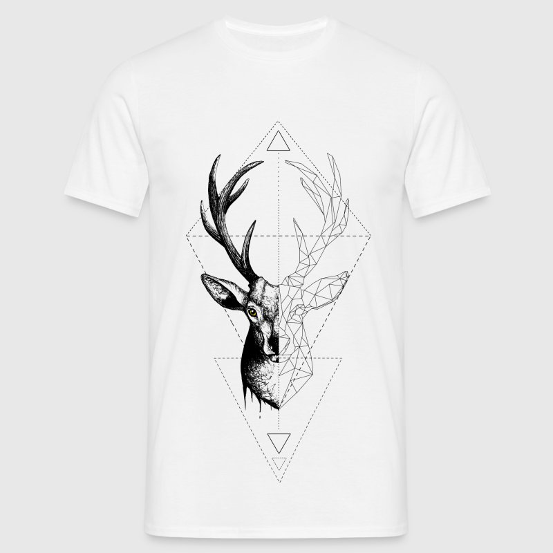 White Deer Geometrically T-Shirts - Men's T-Shirt