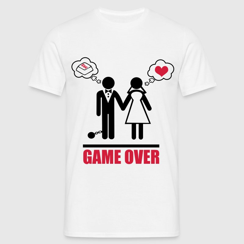 Game over : Enterrement de vie de garçon,couple - T-shirt Homme