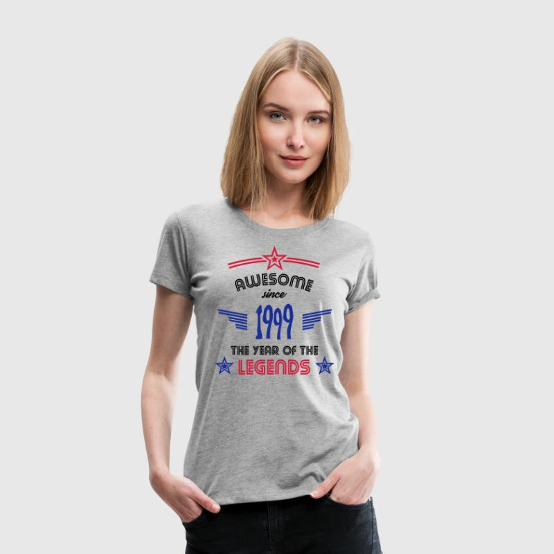 Awesome since 1999 T-Shirts - Frauen Premium T-Shirt