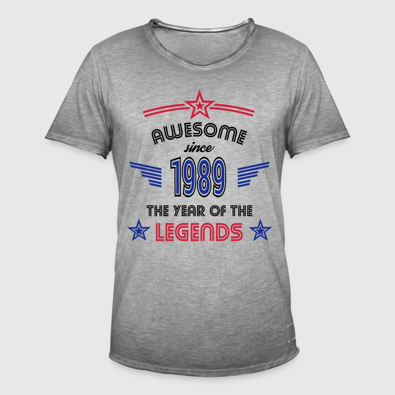 Awesome since 1989 T-Shirts - Männer Vintage T-Shirt