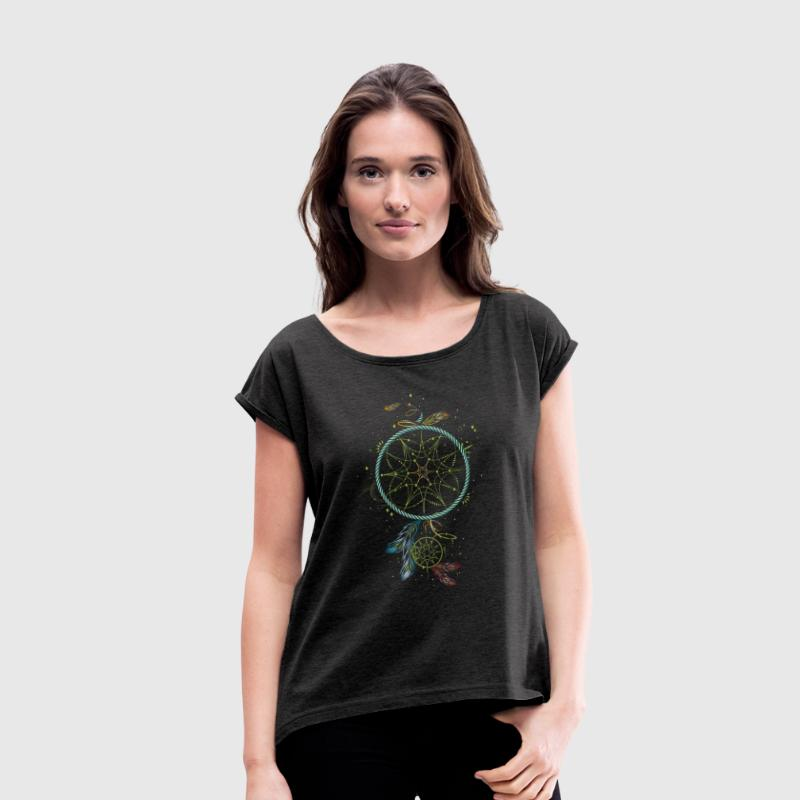 Dreamcatcher T-Shirts - Women's T-shirt with rolled up sleeves