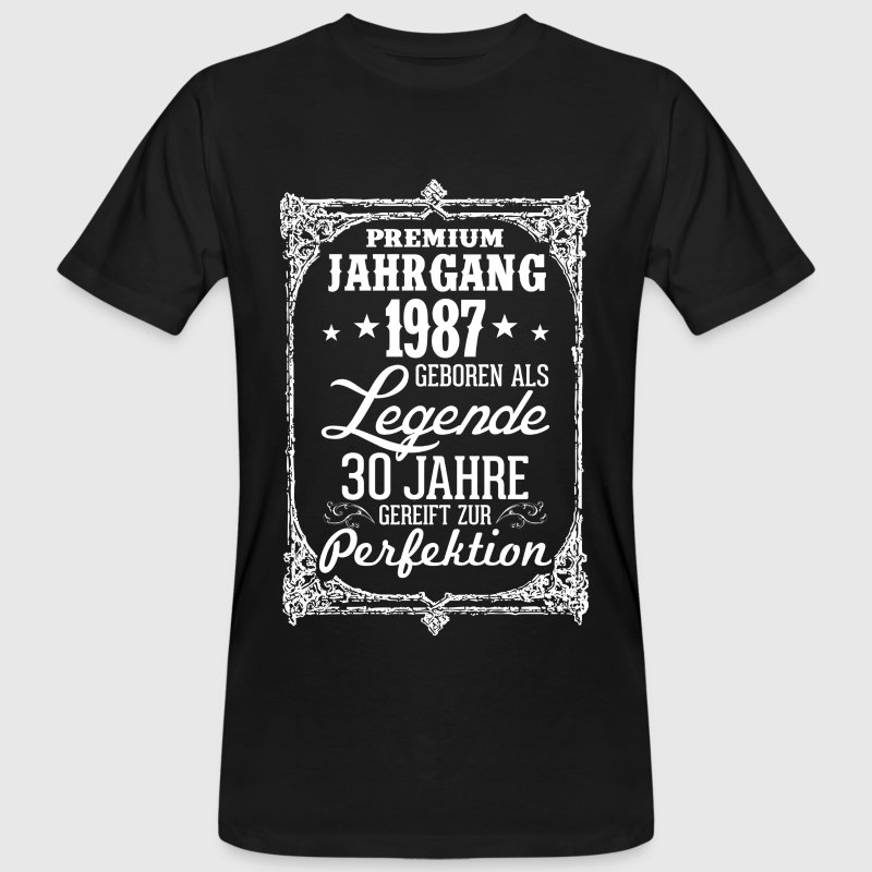 30-1987-legend - perfektion - 2017 - DE T-shirts - Organic mænd