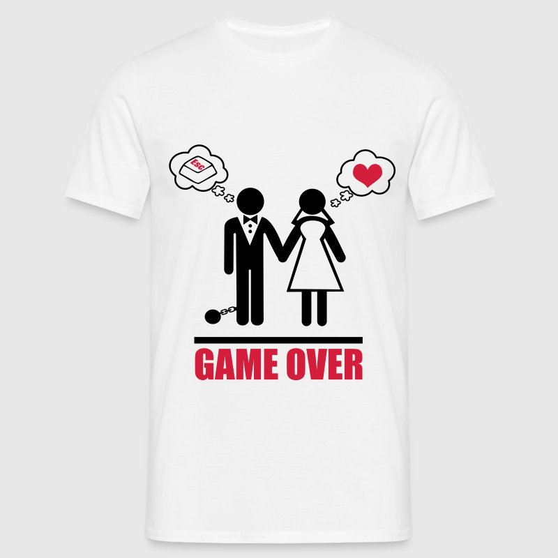 Game over : humour,couple - T-shirt Homme