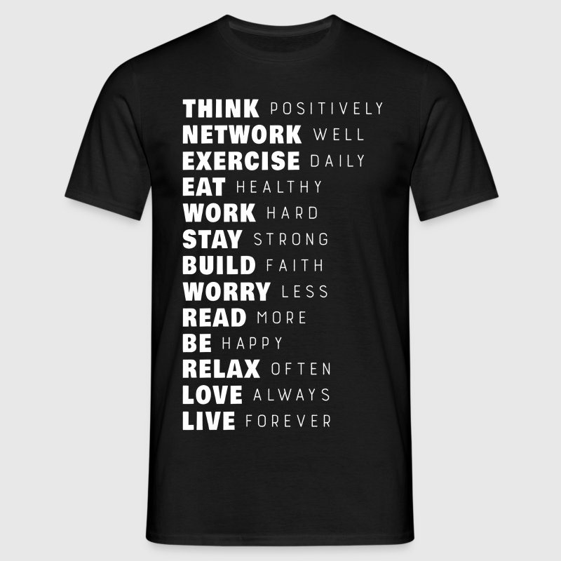 Think Positively T-Shirts - Men's T-Shirt