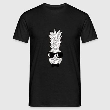 Pineapple With Sunglasses & Bow Tie Illustration Ropa deportiva - Camiseta hombre