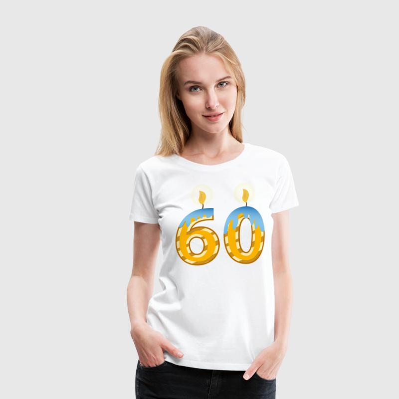 60th Birthday Candles - Women's Premium T-Shirt