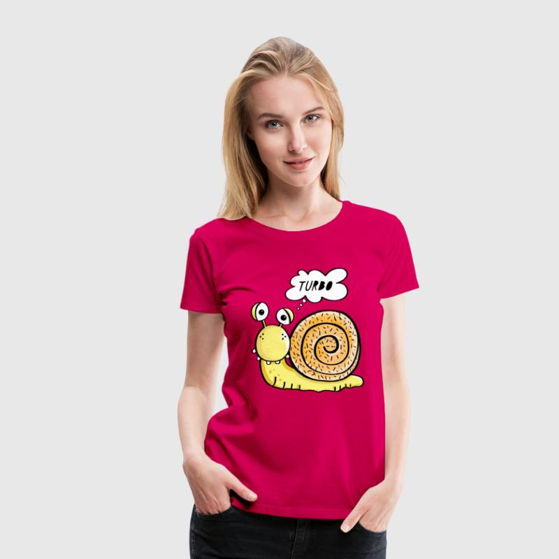 Turbo Schnecke T-Shirts - Frauen Premium T-Shirt
