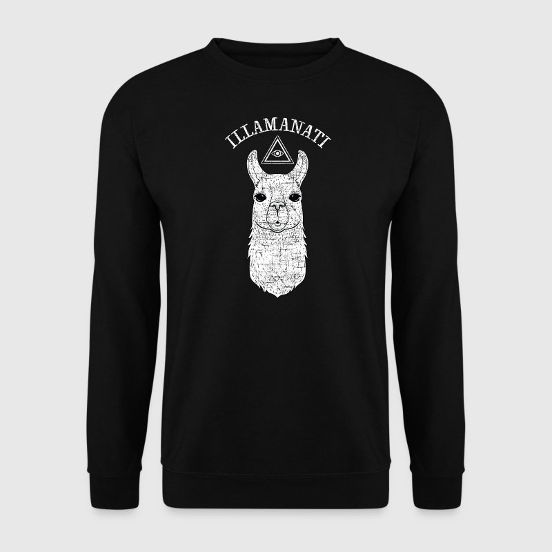 Illamanati | Cool Llama Design with Triangle Pullover & Hoodies - Männer Pullover