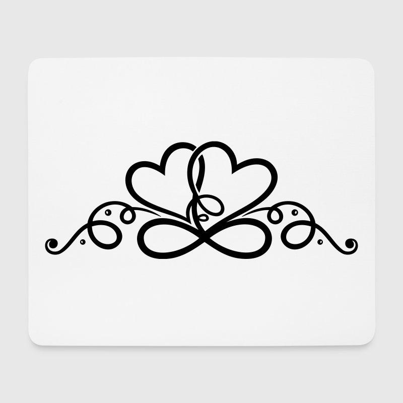 zwei herzen infinity two hearts mousepad spreadshirt. Black Bedroom Furniture Sets. Home Design Ideas
