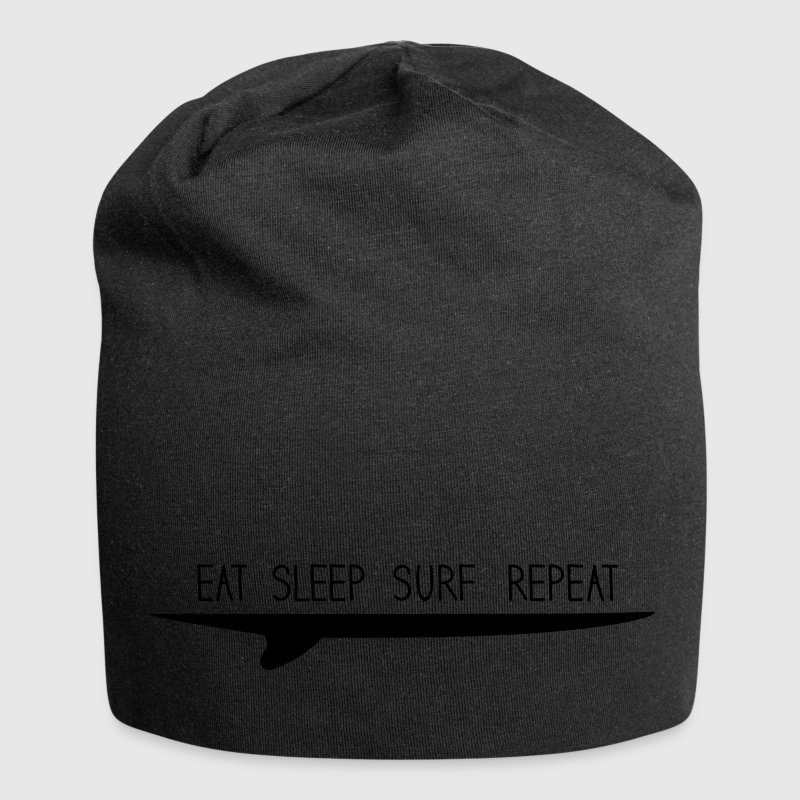 eat sleep surf repeat Caps & Mützen - Jersey-Beanie