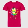 Cute Rainbow Unicorn, Cloud, Kawaii, Manga, Anime Shirts - Teenage Premium T-Shirt