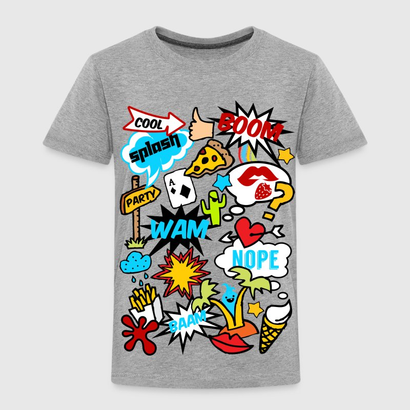Comic Book Style, comics, funny, boom, patches Shirts - Kids' Premium T-Shirt